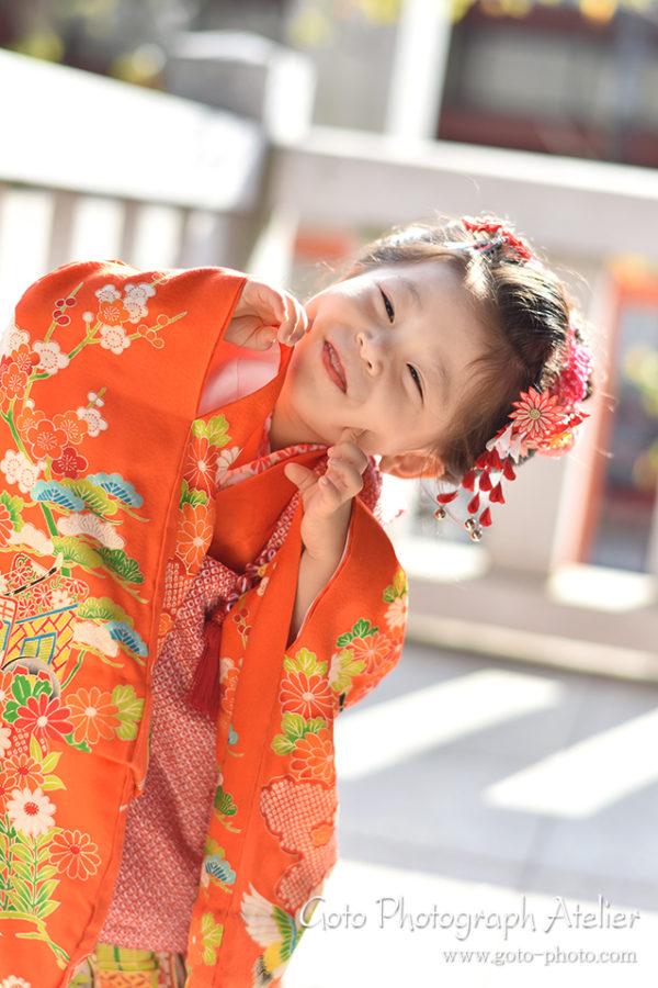 東京は赤坂日枝神社で七五三の出張カメラマン