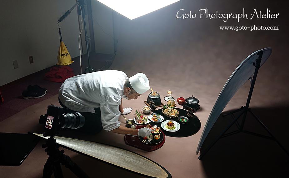 料理写真の撮影風景